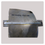 MIG welding effect- face side