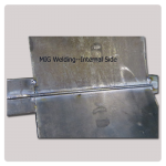 MIG welding effect- internal side