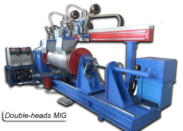 Double-heads Automated MIG Circumferential Lathe Welder