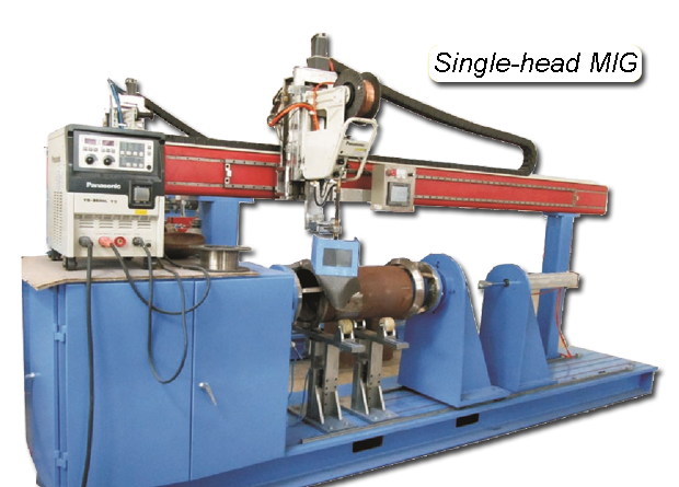 Single-head Automated MIG Circumferential Lathe Welder