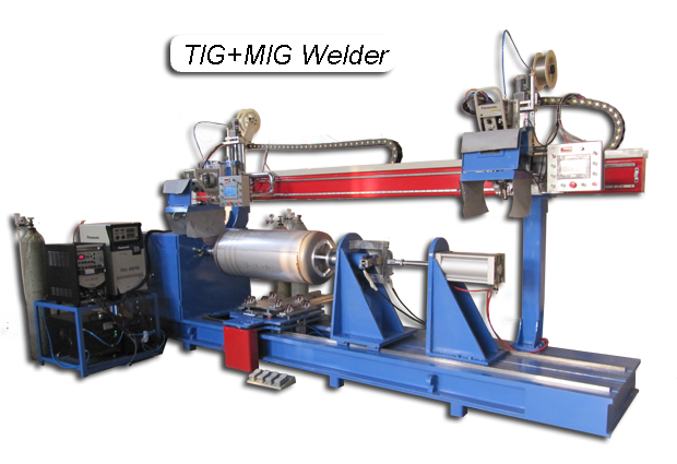 Automated Circumferential Lathe Welder-TIG+MIG Welding (1)