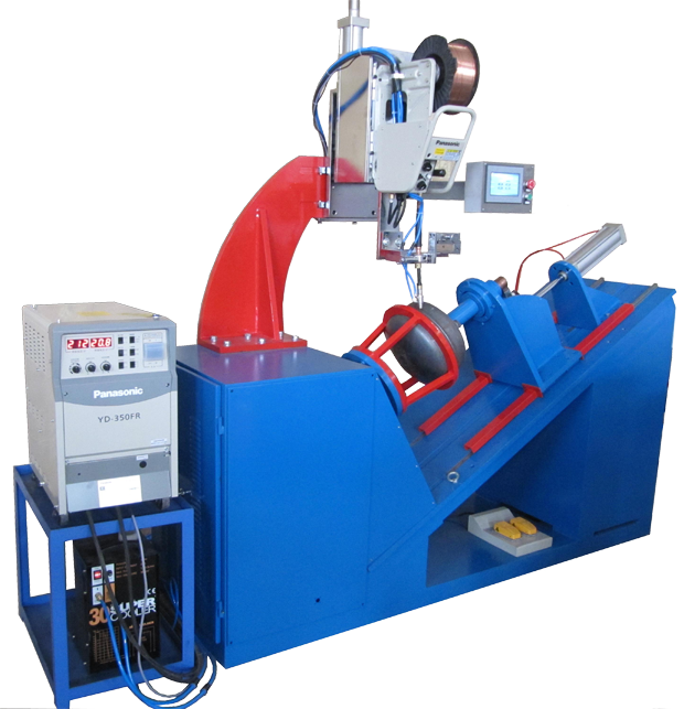Customised Automated Circumferential Lathe Welder-Inclined type