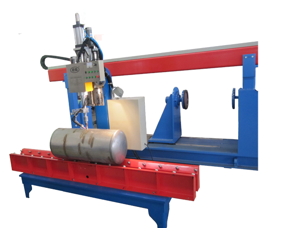 Tube pipe welding station- bottom support type
