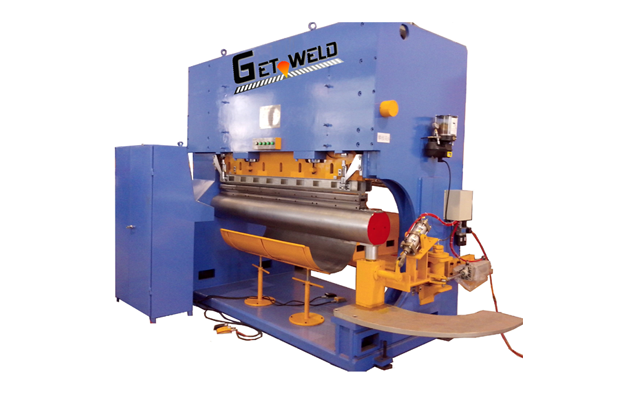 Outer shell Bending and Lapping-Integrated Machine-Hydraulic-type